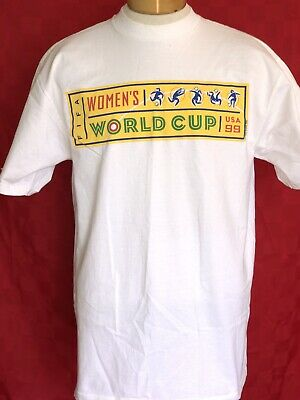 RARE USA VINTAGE 1997 1999 women's World Cup T-shirt FIFA