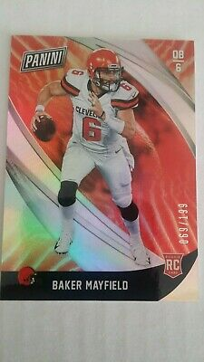 2018 Panini Black Friday Baker Mayfield 41 69199 SP Refractor