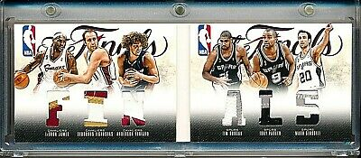 2012-13 Preferred The Finals LeBron James Tim Duncan 25 Cavs Spurs Game Patch