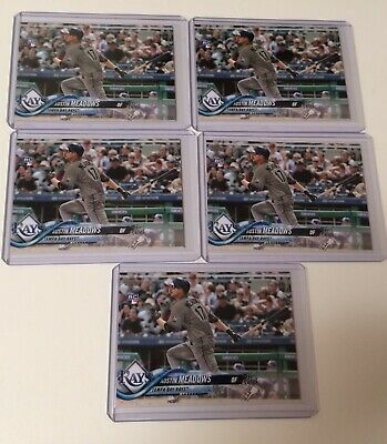 Lot 5x 2018 Topps Update AUSTIN MEADOWS  US34 Rookie Rays