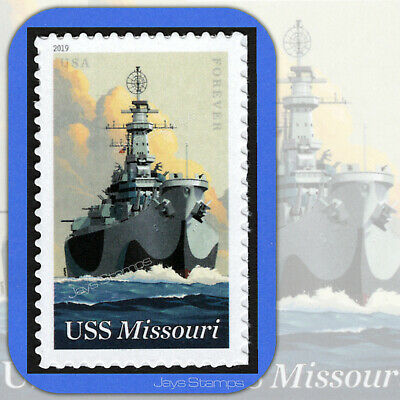 2019  USS MISSOURI  75th Anniversary USPS  Forever® Individual MINT Stamp  5392