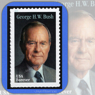 2019  GEORGE H- W- BUSH  Genuine  USPS  Forever® Individual MINT Stamp   5393