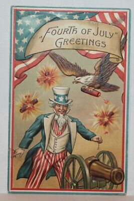 Patriotic Postcard Fourth of July Greetings