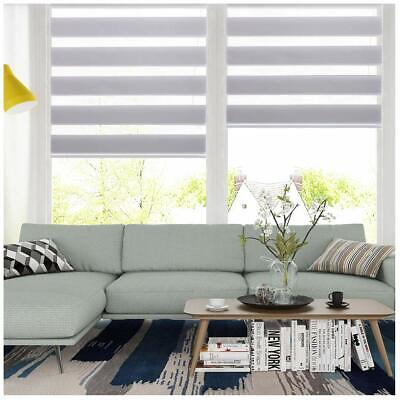 Horizontal Window Shade Blind Zebra Dual Roller Blinds CurtainsEasy to Install