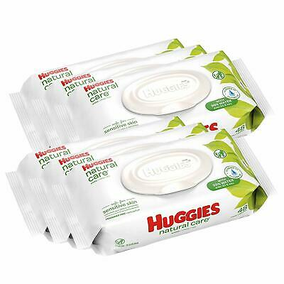 HUGGIES Natural Care Unscented Baby Wipes Sensitive 6 Disposable Flip-top Pack