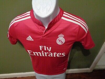 Adidas Climacool Real Madrid Fly Emirates Soccer Jersey Youth SMALL