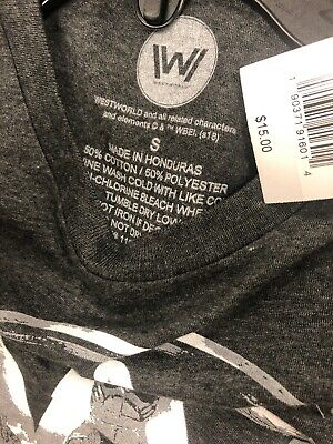 Westworld Tv T-shirt Size Small NWT NWT GRAPHIC TEE FREE SHIPPING USA