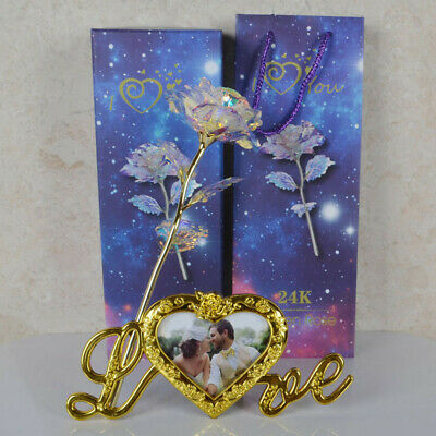 Forever Galaxy Rose With Love Base Everlasting Crystal Mothers day Best Gift