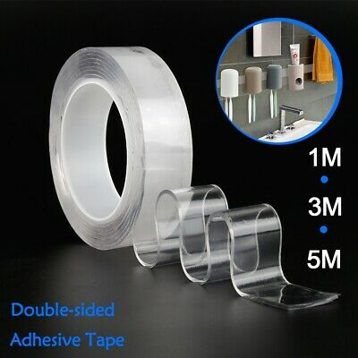 Magic Washable Tape Double-sides Adhesive Tape Nano Traceless Invisible Gel