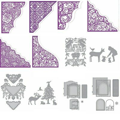 Lace Borders Frame AnimalsMetal Cutting Dies Stencils DIY Scrapbooking Embossing