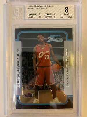 2003-04 Bowman Chrome BGS 8 LEBRON JAMES Rookie 45310