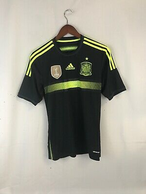 adidas Spain FIFA World Cup 2010 Champs Black Soccer Jersey Mens S