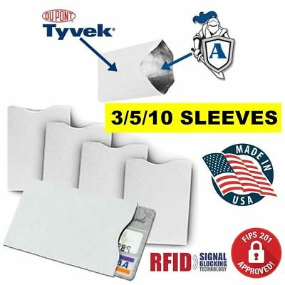 RFID Blocking Credit Card DuPont TYVEK Sleeves for Wallet FREE SHIPPING