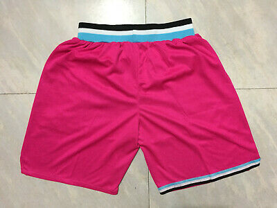 Stitched Miami Heat Basketball Game Shorts NBA Mens NWT Pink