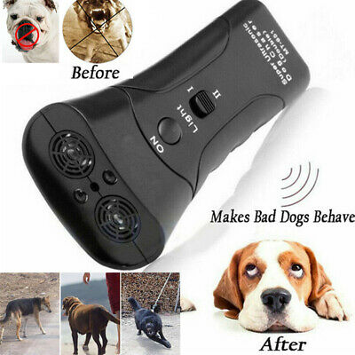 Ultrasonic Anti Dog Barking Trainer LED Light Gentle Chaser Petgentle Sonics