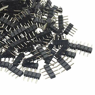 50 X 4Pin 5in Male Plug Adapter Connector for RGB RGBw 3528 5050 LED Strip Light