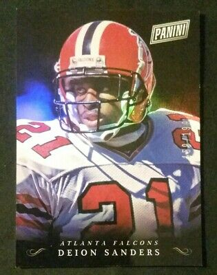 2018 Panini Black Friday Collection Deion Sanders Silver Parallel 159199