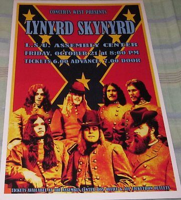 LYNYRD SKYNYRD 10-21-77 LSU THE SHOW THAT NEVER HAPPENED REPLICA CONCERT POSTER