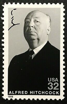 1998 Scott 3226 32¢ - ALFRED HITCHCOCK - HOLLYWOOD  - Single Stamp - Mint NH