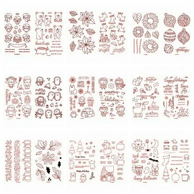 Halloween Christmas Transparent Clear Silicone StampSeals for DIY Scrapbooking
