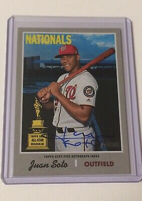 2019 Topps Heritage High Number JUAN SOTO Real One Autograph Auto