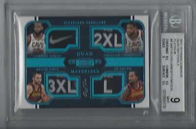 2017-18 Dominion LeBron James LoveThompson QUAD Cavs Jersey Tag Patch 11 NIKE