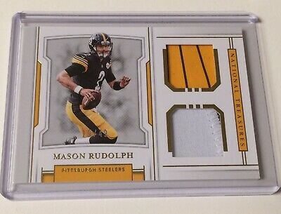 2018 National Treasures MASON RUDOLPH Rookie Dual Patch  49