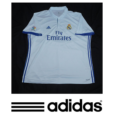 Adidas Mens Real Madrid 201617 Home Jersey White Size 3XL