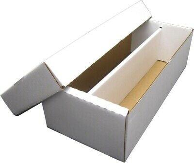1 1600 CT- 2 ROW BASEBALL CARD CARDBOARD STORAGE BOXES for 3X4 TOPLOADERS