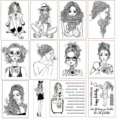 Girl Christmas Clear Stamps for DIY Scrapbooking Craft Card Transparent Stempels