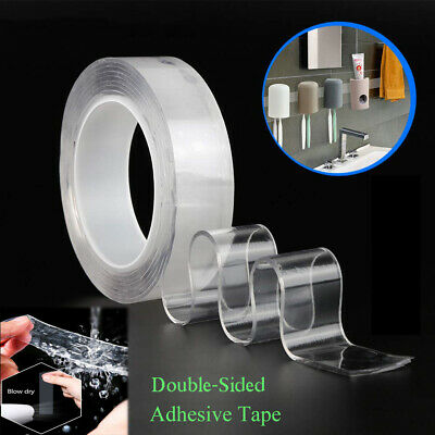 Reusable Nano Magic Tape 2mm Double-sided Grip Traceless Washable Adhesive Gel