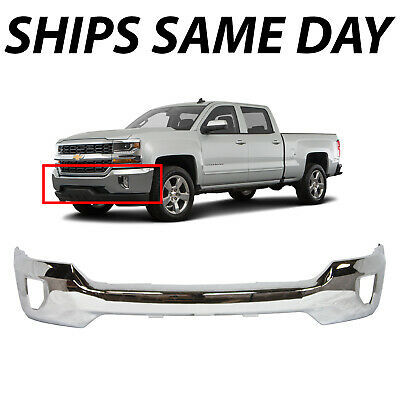 NEW Chrome Steel Front Bumper Face Bar for 2016-2018 Chevy Silverado 1500 w Fog