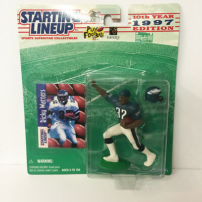 1997 Ricky Watters Starting Lineup Figure NFL Eagles Kenner NIP NEW