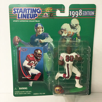 1998 Jerry Rice Starting Lineup Figure NFL 49ers Kenner NIP Unopened