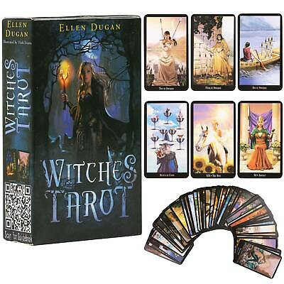 Witches Tarot Decks Future Fate Indicator Forecasting Table Game Oracle 78 Cards