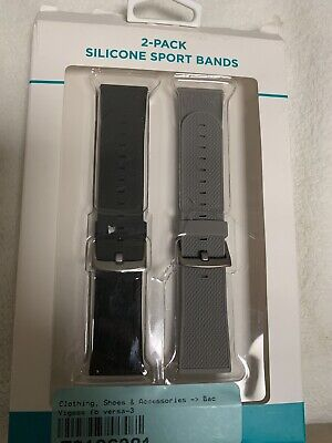 TWO PACK For Fitbit Versa Replacement Silicone Bands Watch Sport Band