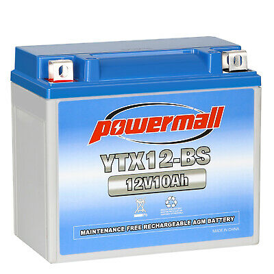 Powermall YTX12-BS Motorcycle Battery For Honda