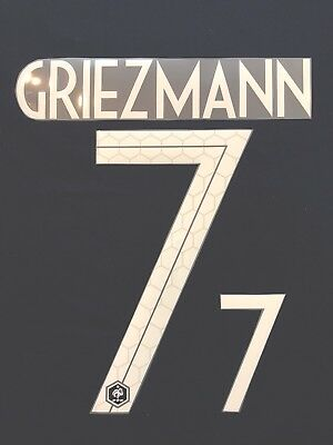 2018 RUSSIA WORLD CUP FRANCE GRIEZMANN HOME NAME SET