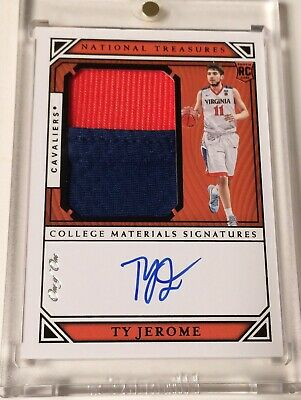 2019-20 National Treasures Collegiate TY JEROME Rookie Patch Auto RPA  11