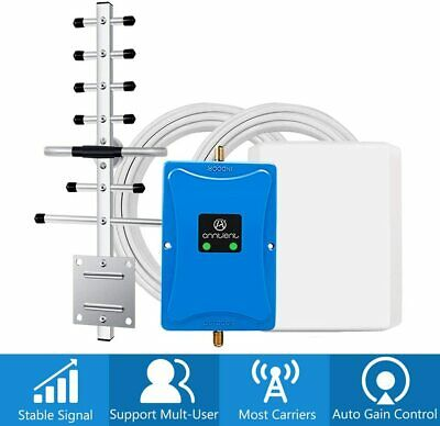Cell Phone Signal Booster AT-T 1700MHz 850 3G 4G LTE Repeater Verizon T-Mobile