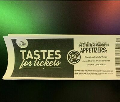 10 Dave And Buster Appetizer Taste For Tickets