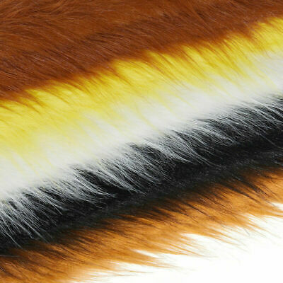 Half Meter Luxury Fabric Long Haired Pile Plush Faux Fur DIY Craft Accessory US