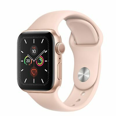 Apple Watch Series 4 40 mm Gold Aluminum Case with Pink Sand Sport Band GPS-
