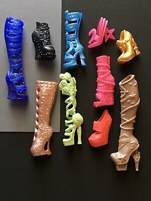NEW Lot of 10 Pair Monster High Shoes and Boots Mixed Characters