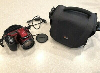 Nikon Coolpix L830 16-0MP Digital Camera   Red  With Case EUC