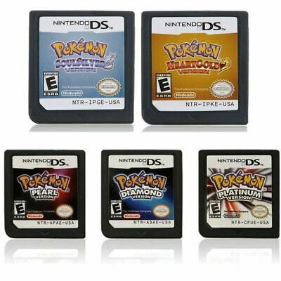 Pokemon Games Cards Platinum Diamond SoulSilver HeartGold For Nintendo 3DS NDSI