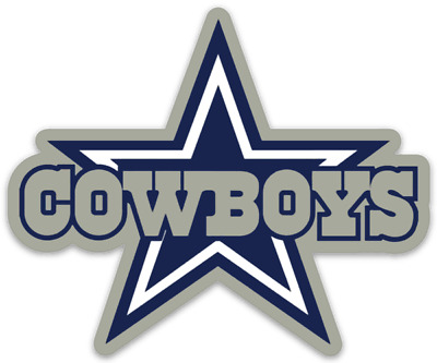 Dallas Cowboys Logo with Cowboys Name and Star NFL Die-cut MAGNET