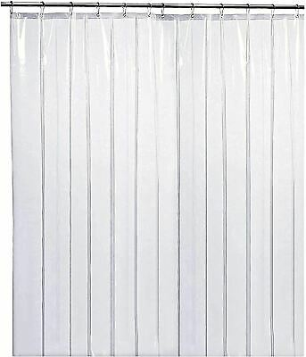 LiBa Heavy Duty 10G Clear Shower Curtain Liner Mold and Mildew Resistant 72x72