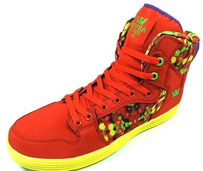 Supra Vaider Lite S80006 Mens Shoes Basketball Sneakers Fire Red Synthetic