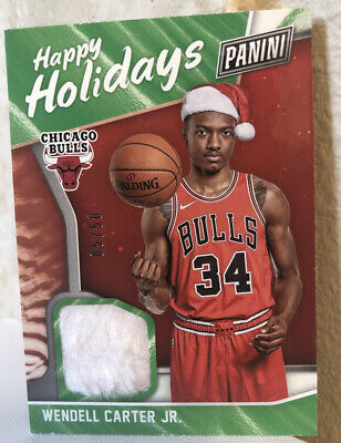 2018 Panini Black Friday Happy Holidays Santa Hat WC Wendell Carter Jr- RC 50